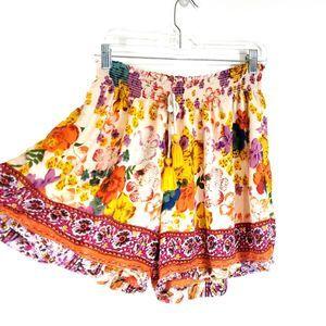 Anthropologie Floral Lightweight Lounge Shorts